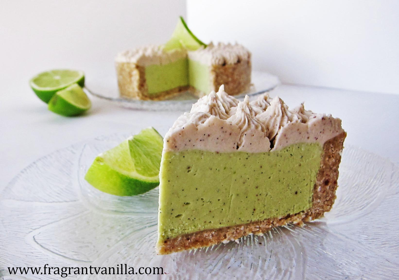 Raw Lime Avocado Tart