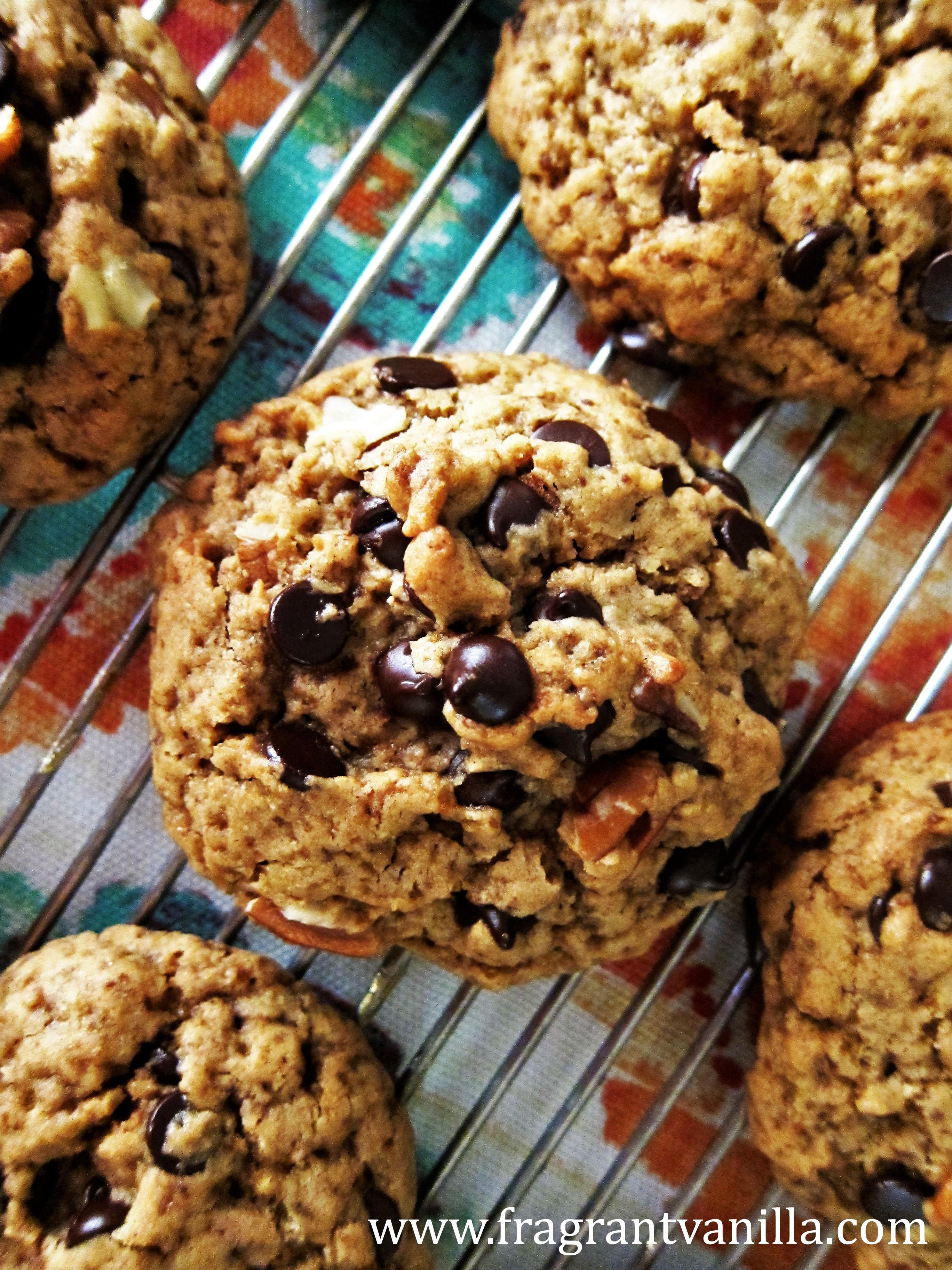 Vegan Maple Pecan Chocolate Chip Cookies