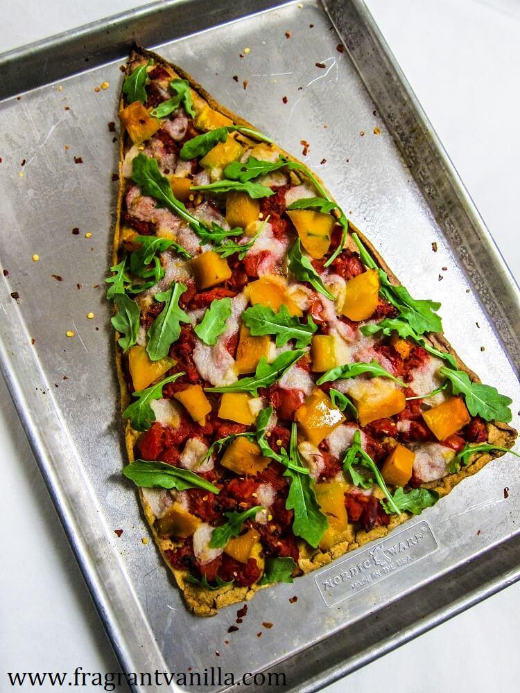 VeganChristmas Tree Pizza