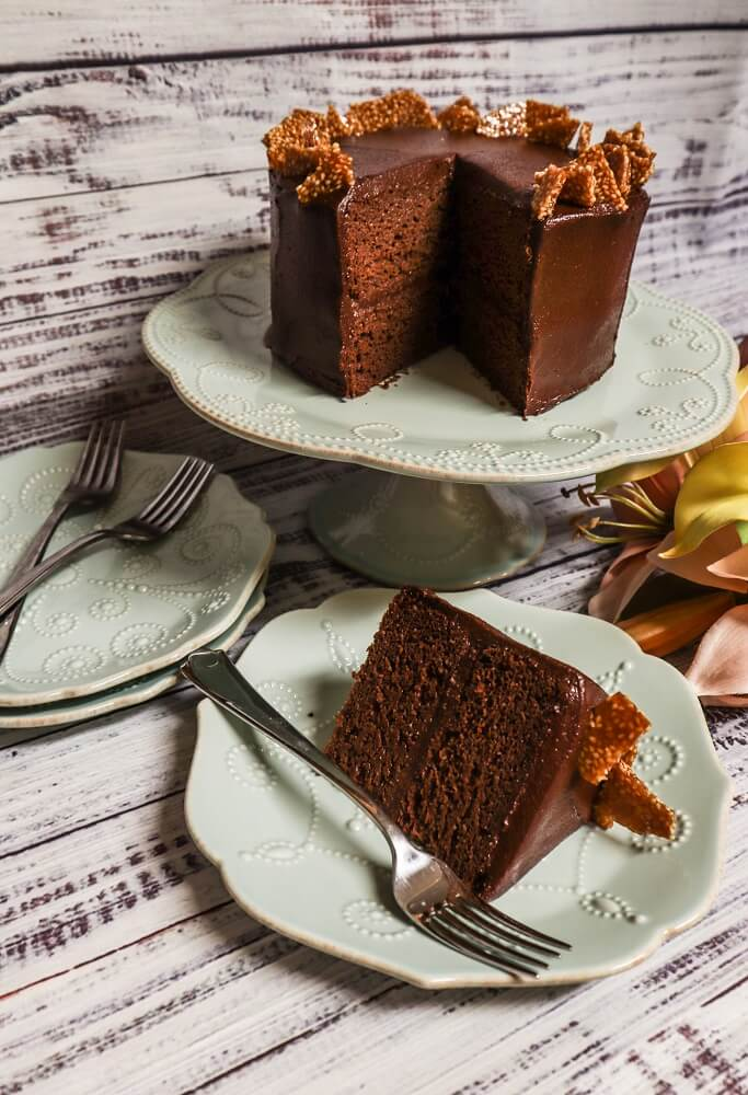 Vegan Tahini Chocolate Cake
