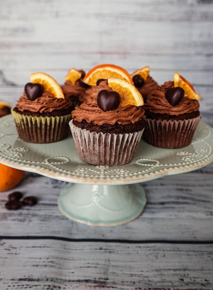 Vegan Chocolate Orange Hazelnut Cupcakes