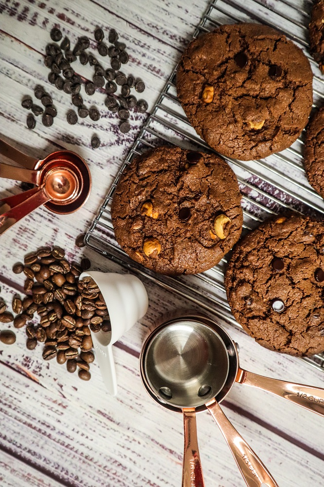 Vegan Chocolate Hazelnut Latte Cookies