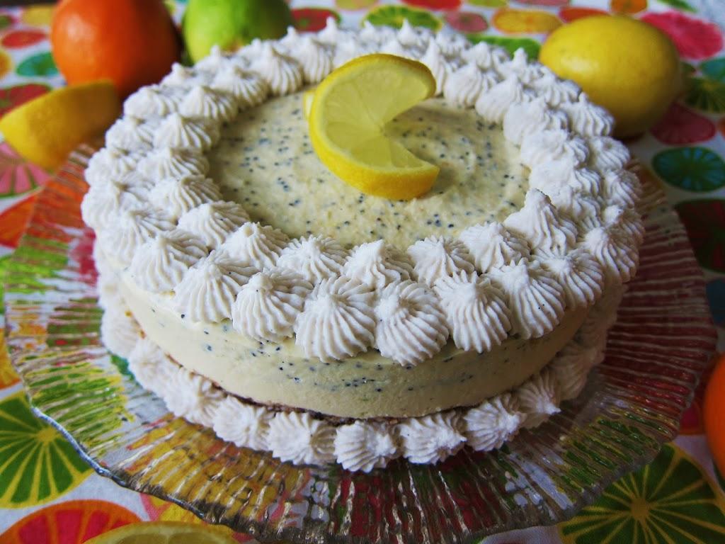 Raw Citrus Poppyseed Cheesecake