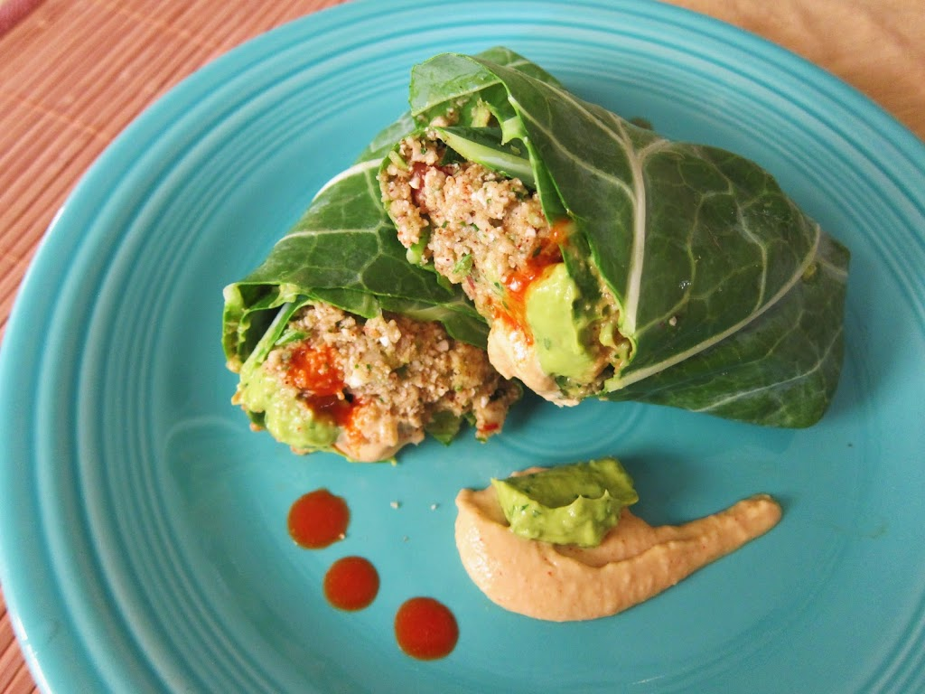 Raw Mexican Rice Burritos with Guac and Chipotle Cheddar Sauce