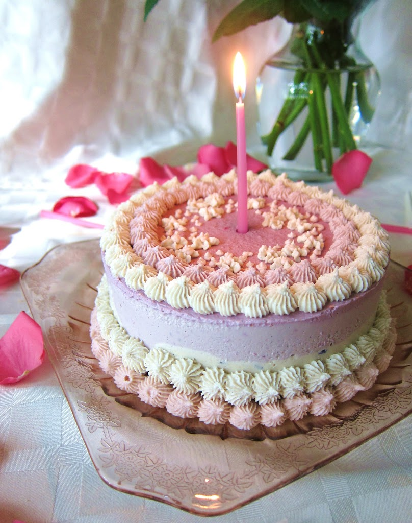 Raw Pretty in Pink Birthday Cheesecake  Fragrant Vanilla Cake