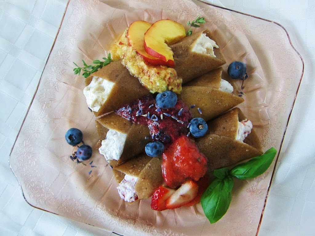 Raw Summer Fruit Cream Crepes