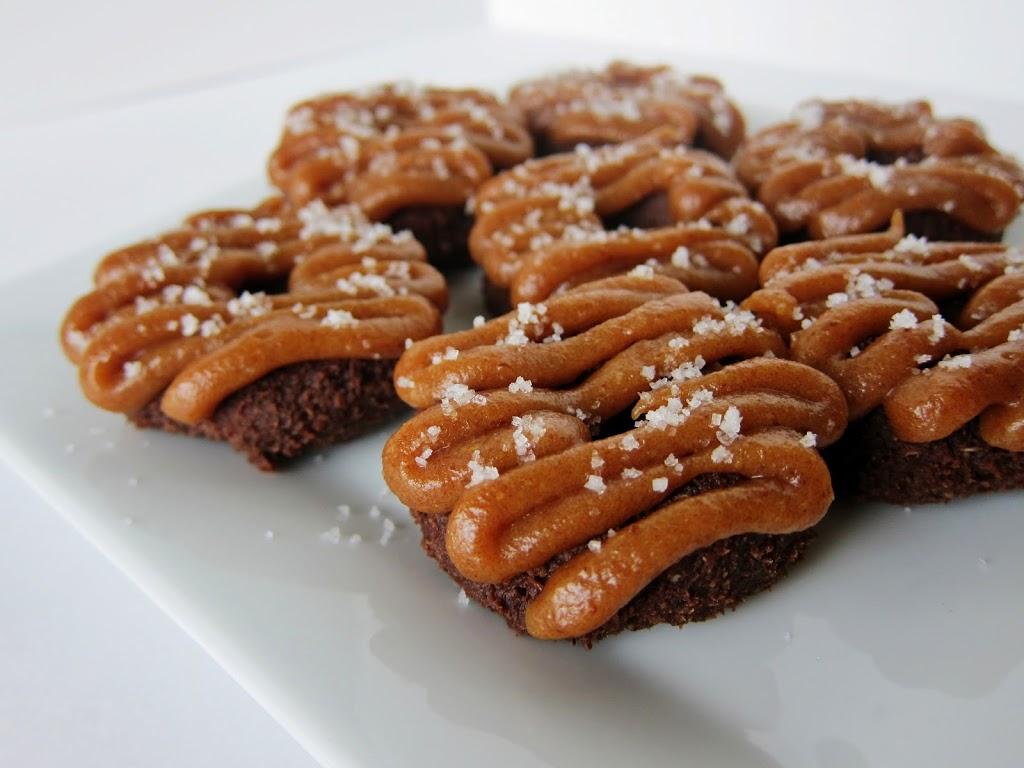 Raw Mini Chocolate Salted Caramel Doughnuts