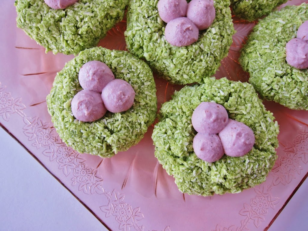 Raw Easter Macaroon Nests