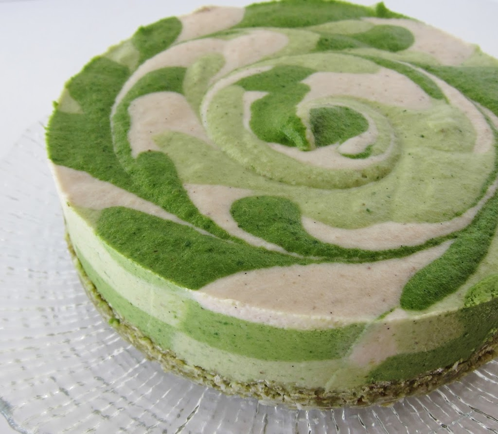 Raw Shamrock Cheesecake