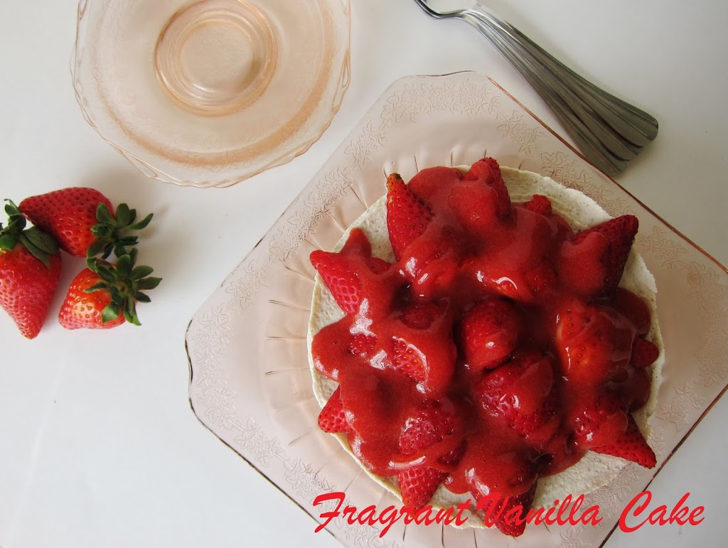 Raw Strawberry Short Cake