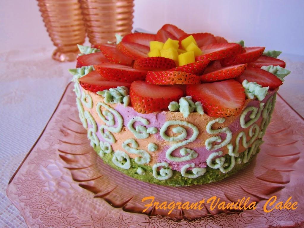 Raw Spring Blossom Cake