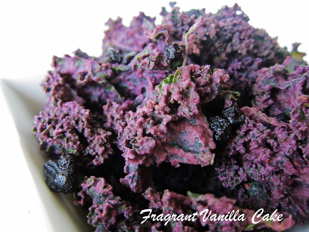 Blueberries and Cream Kale Chips