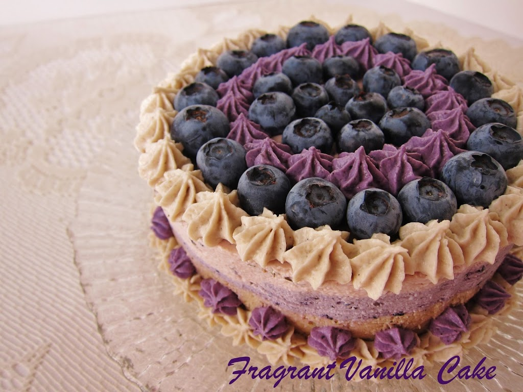 Raw Blueberry Almond Lavender Cake
