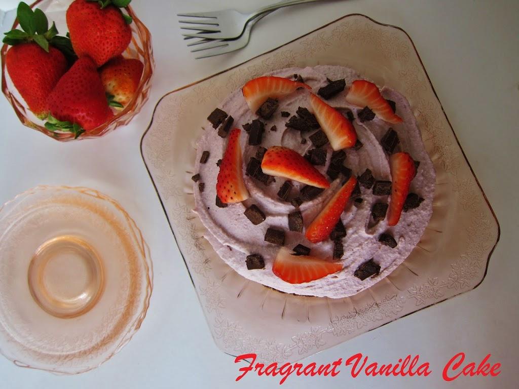 Raw Chocolate Strawberry Silk Pie