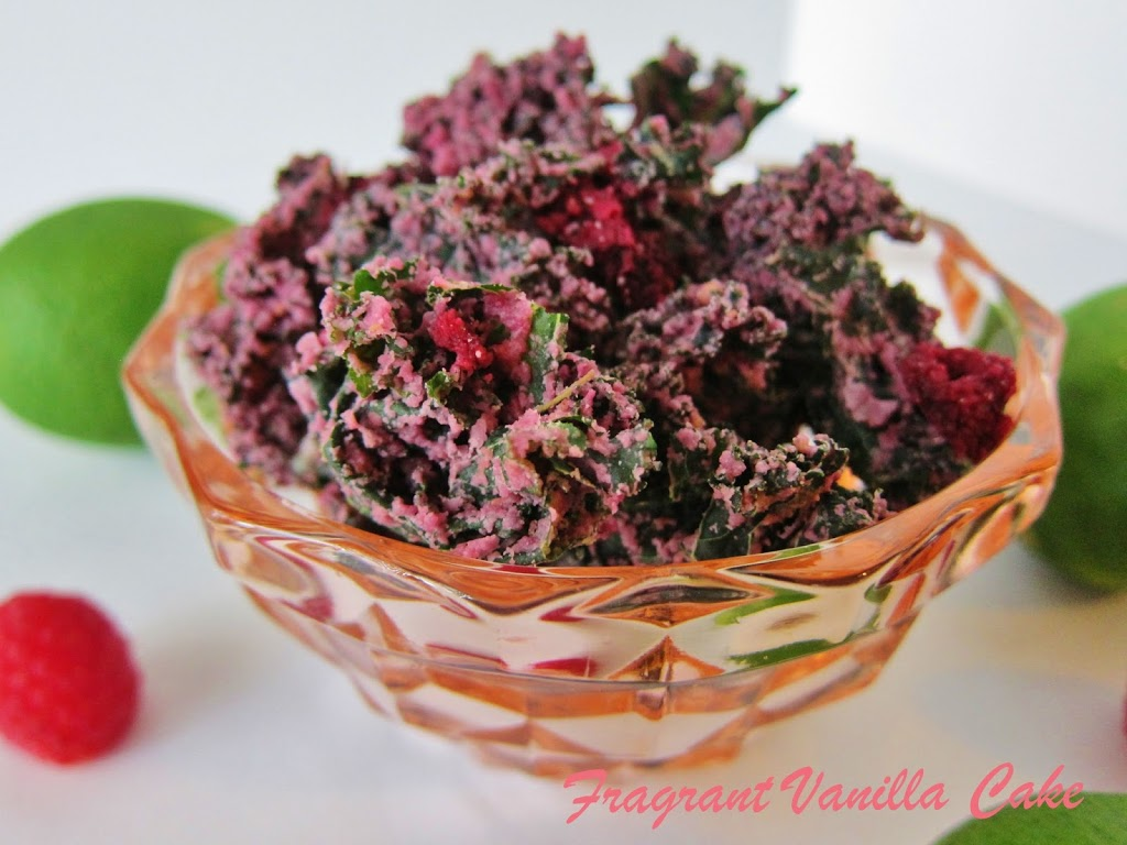 Raw Raspberry Lime Kale Chips