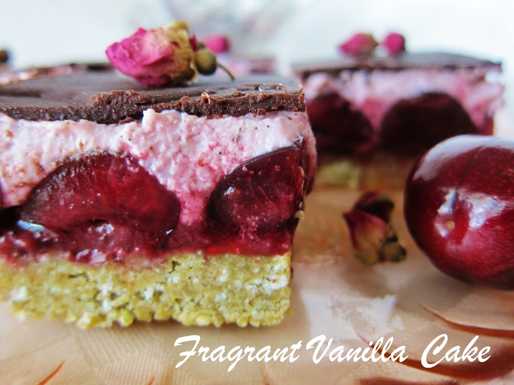 Heavenly Raw Cherry Rose Bars