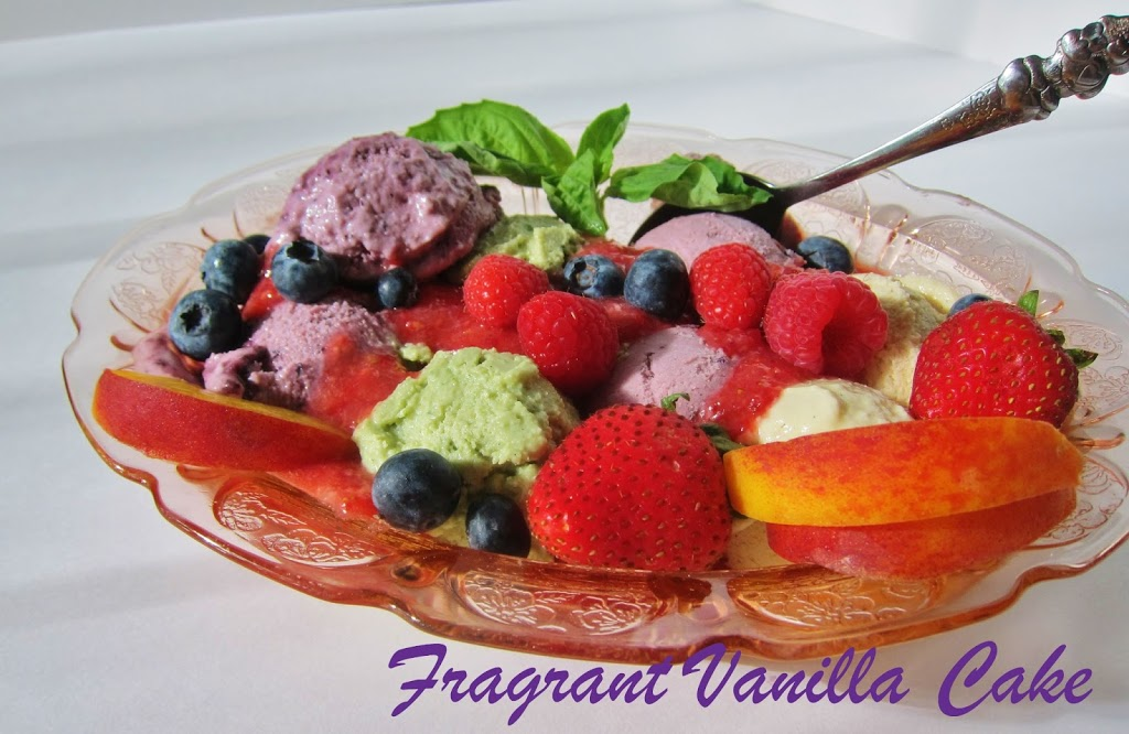 Raw Fruits of Summer Ice Cream Sundae