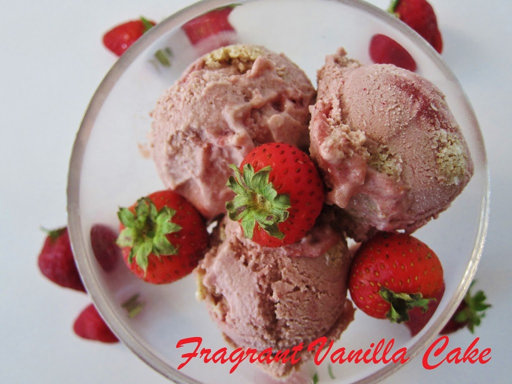 Raw Strawberry Shortcake Ice Cream