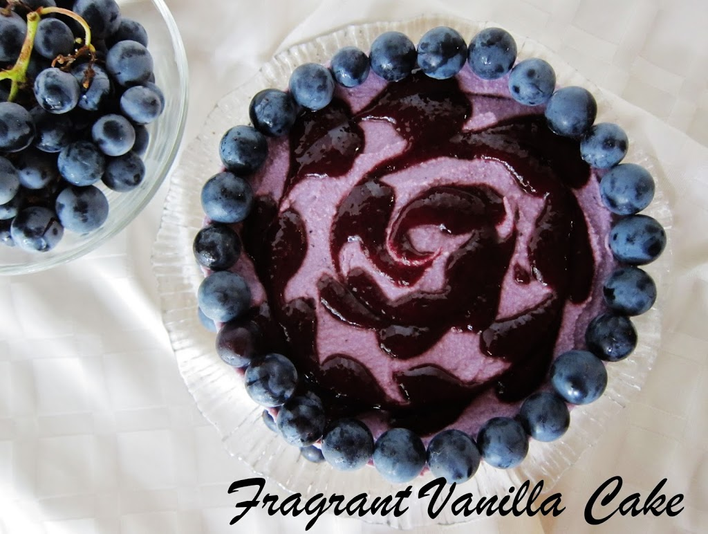 Raw Concord Grape Lemon Cheesecake