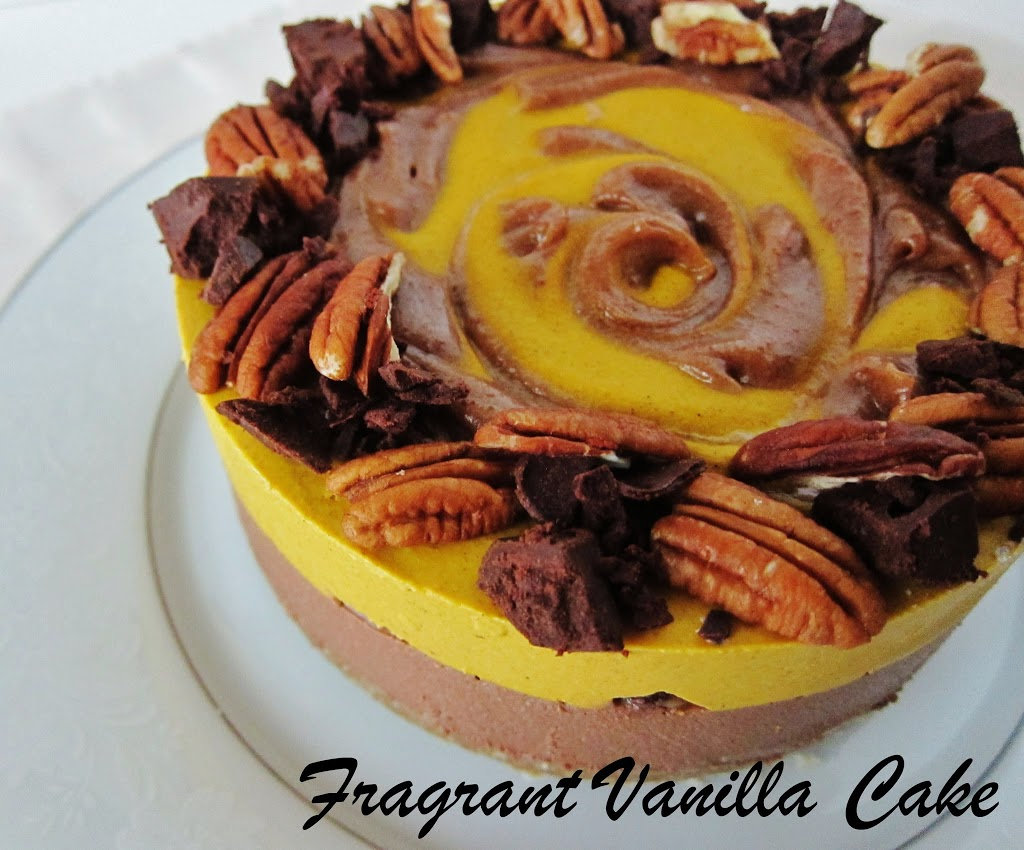 Raw Pumpkin Turtle Cheesecake