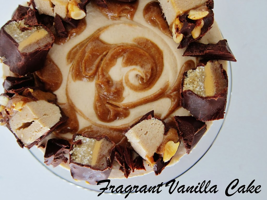 Raw Candy Bar Cheesecake