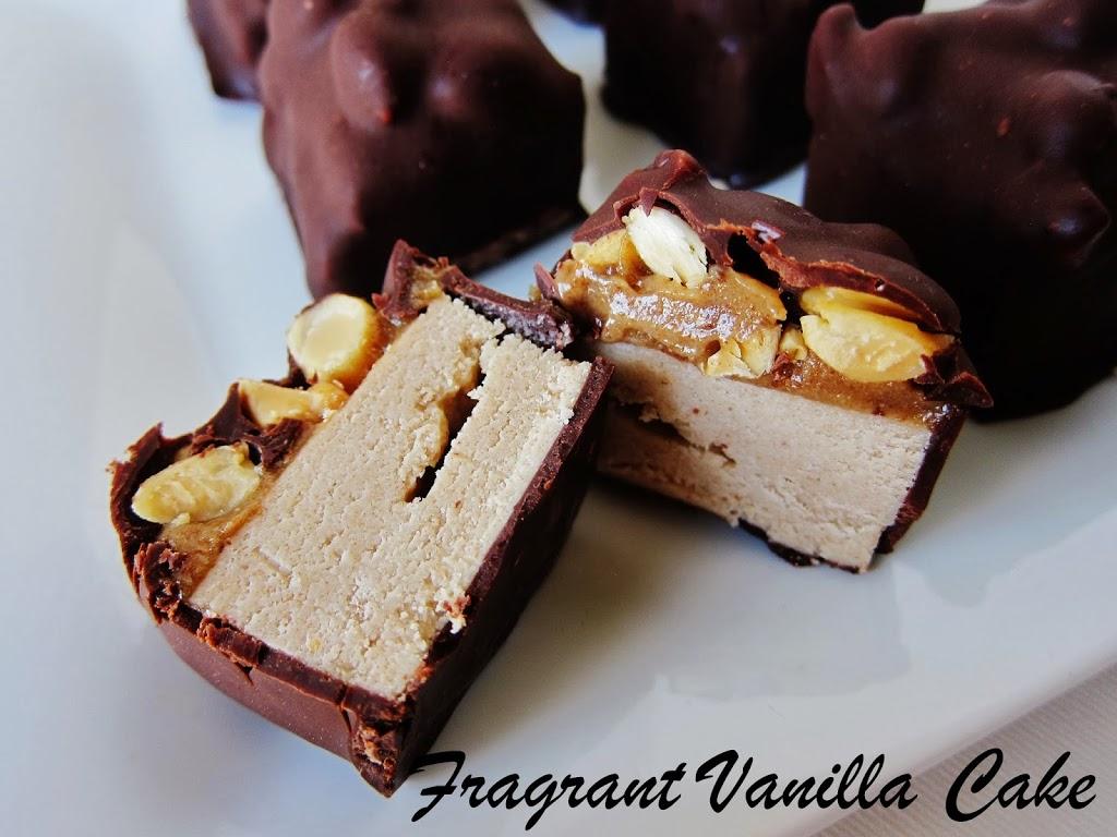 Raw Mini Snickers Bars