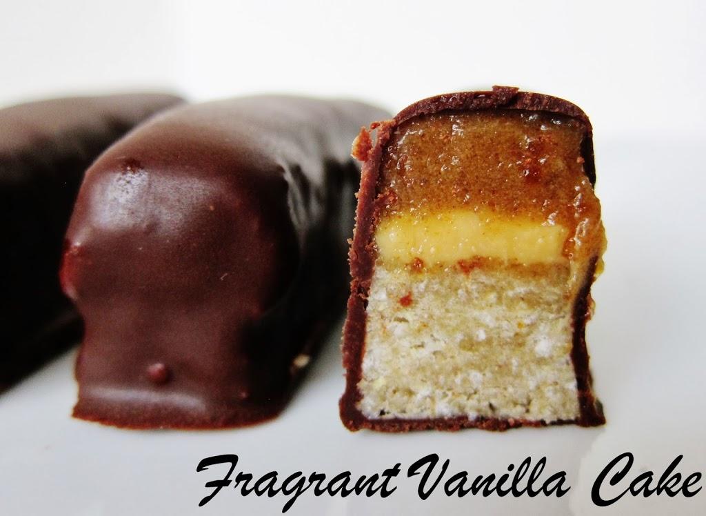 Raw Double Twix Bars Fragrant Vanilla Cake