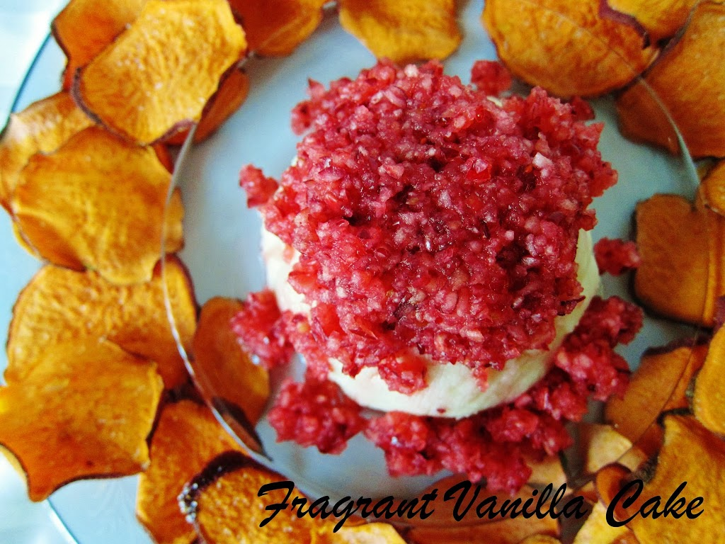 Pine Nut Chevre with Cranberry Pear Relish