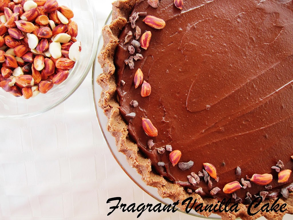Raw Peanut Butter Chocolate Mousse Tart