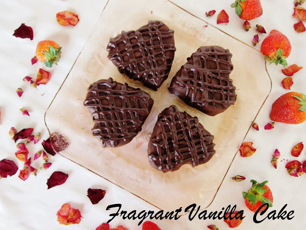 Mini Raw Raspberry Filled Heart Cakes