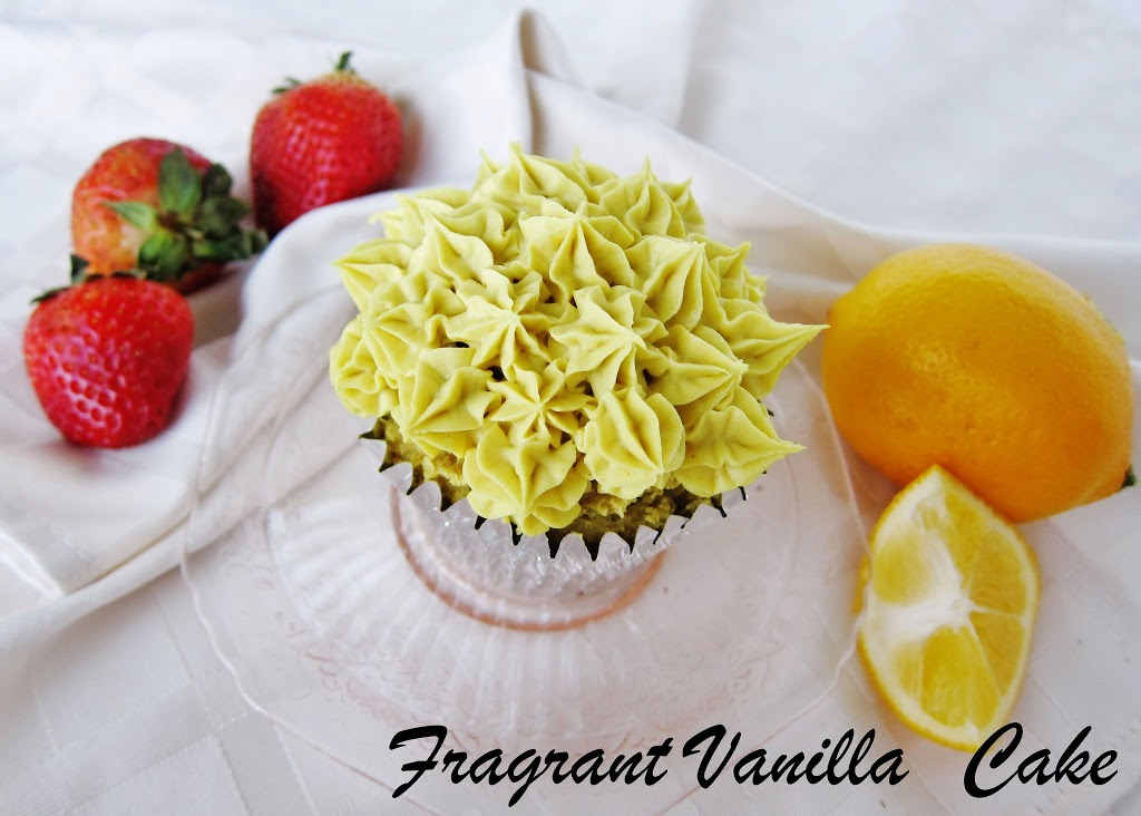 Raw Lemon Cupcakes with Strawberry Filling