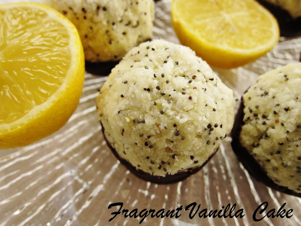 Raw Lemon Poppy Seed Coconut Macaroons