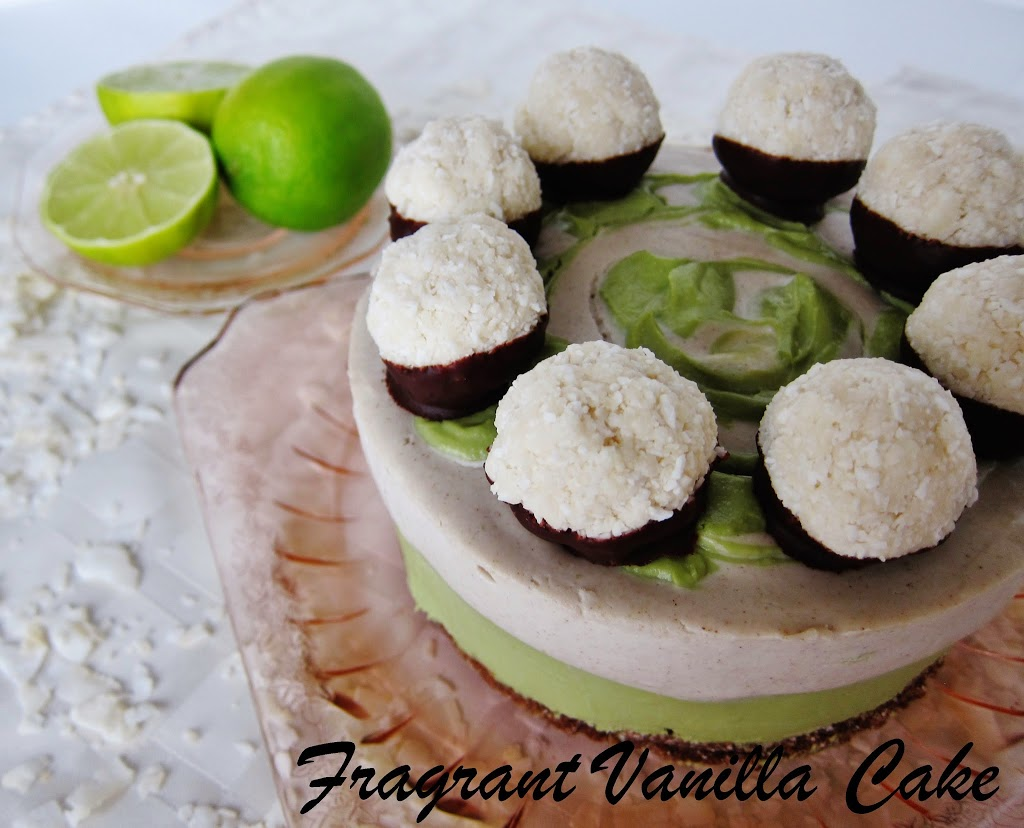 Raw Coconut Lime Macaroon Dream Cake