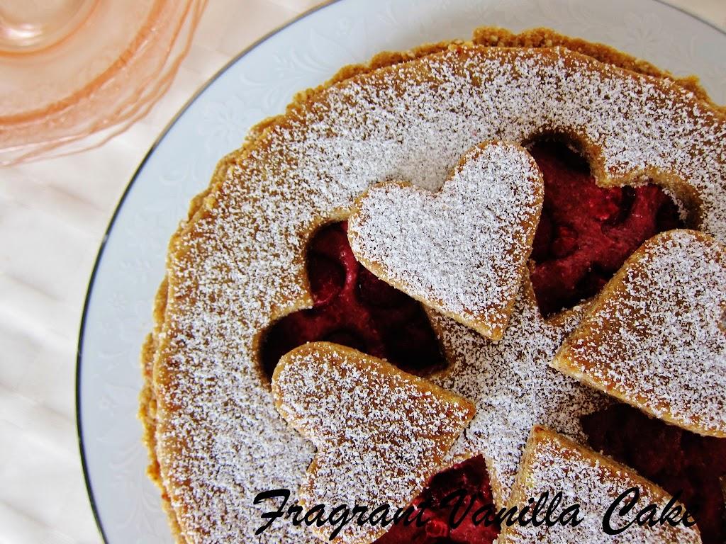 Raw Raspberry Linzer Torte