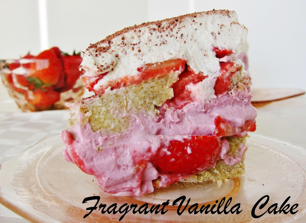 Raw Strawberry Tiramisu