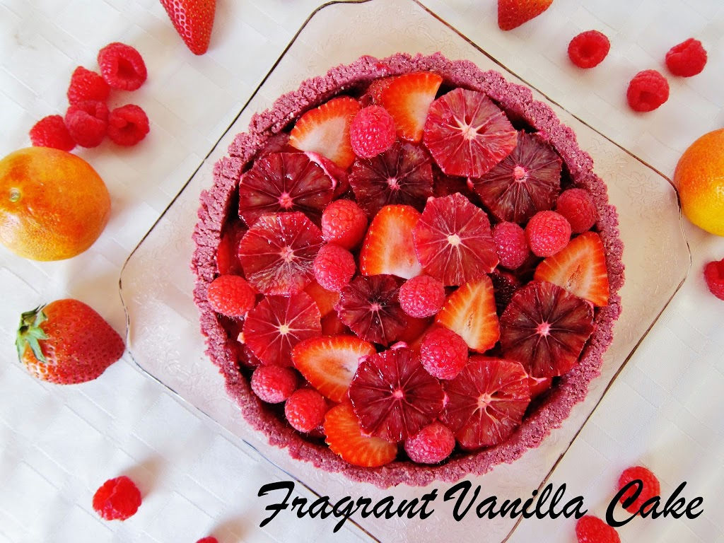 Raw Red Berry Orange Love Tart
