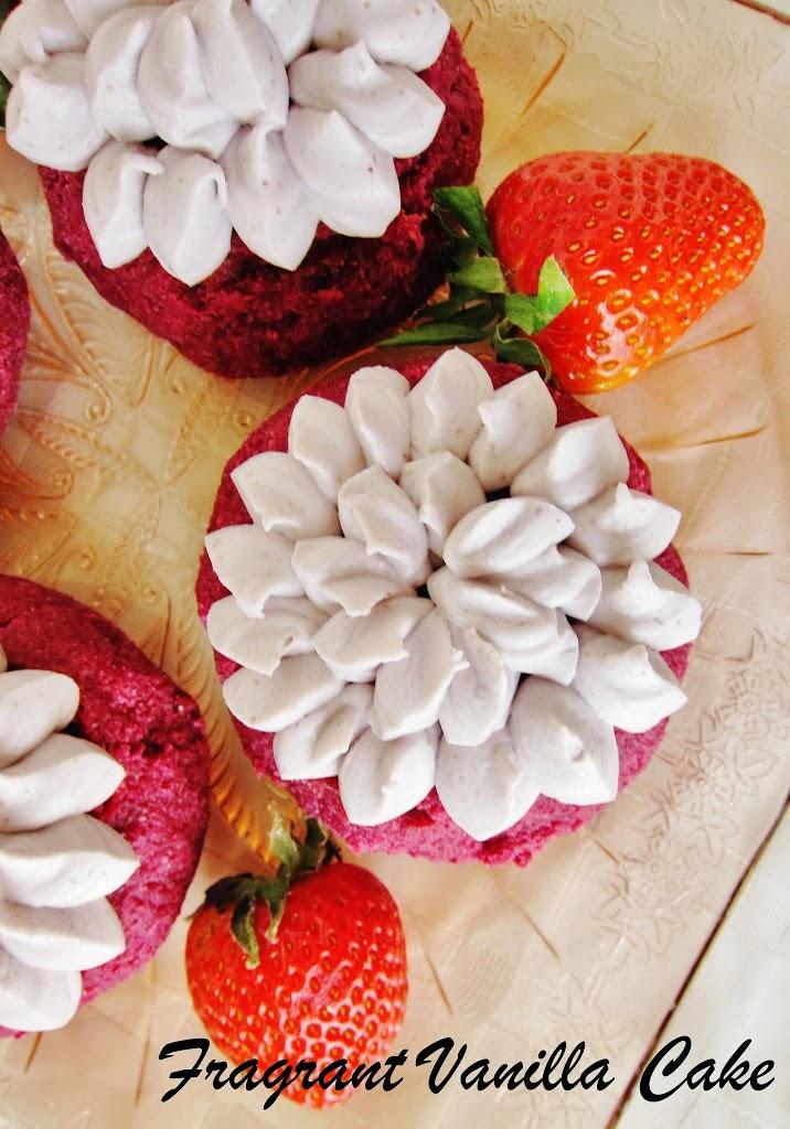Raw Red Velvet Strawberry Filled Doughnuts