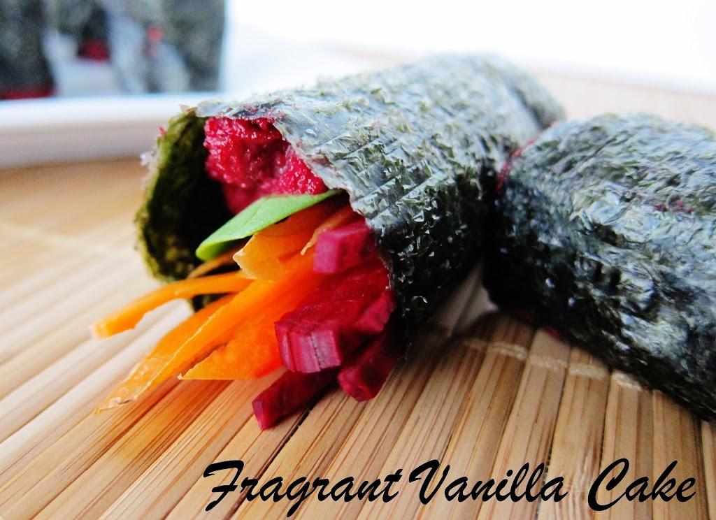 Raw Beautiful Beet Vegetable Rolls