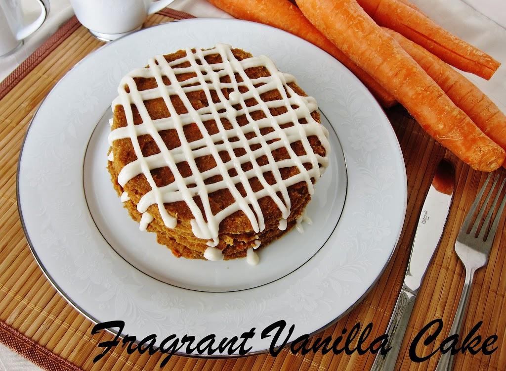 Raw Carrot Cake Pancakes