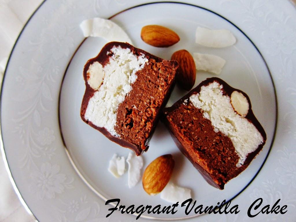 Raw Almond Joy Brownie Bites