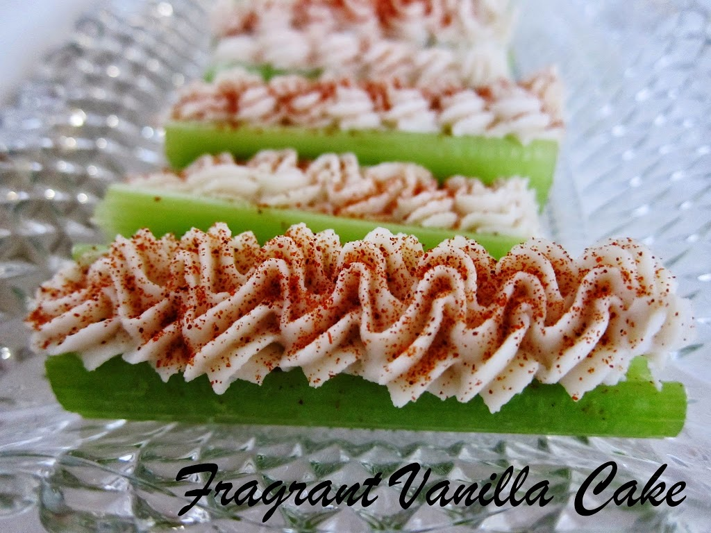 Raw Cheese Stuffed Celery