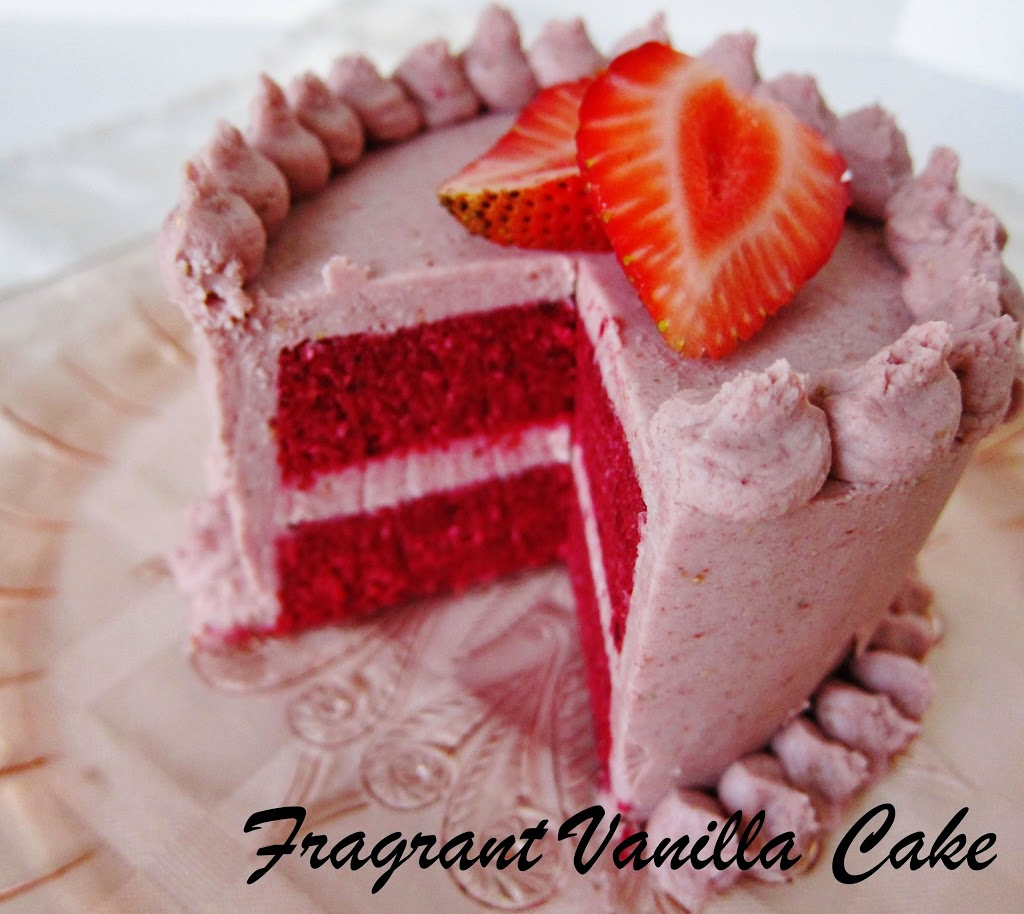 Raw Red Velvet Cake with Strawberry Frosting For Two
