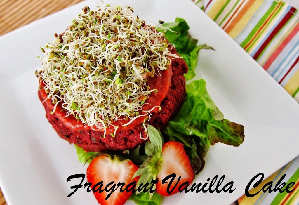 Spring Veggie Burgers with Spicy Strawberry Ketchup