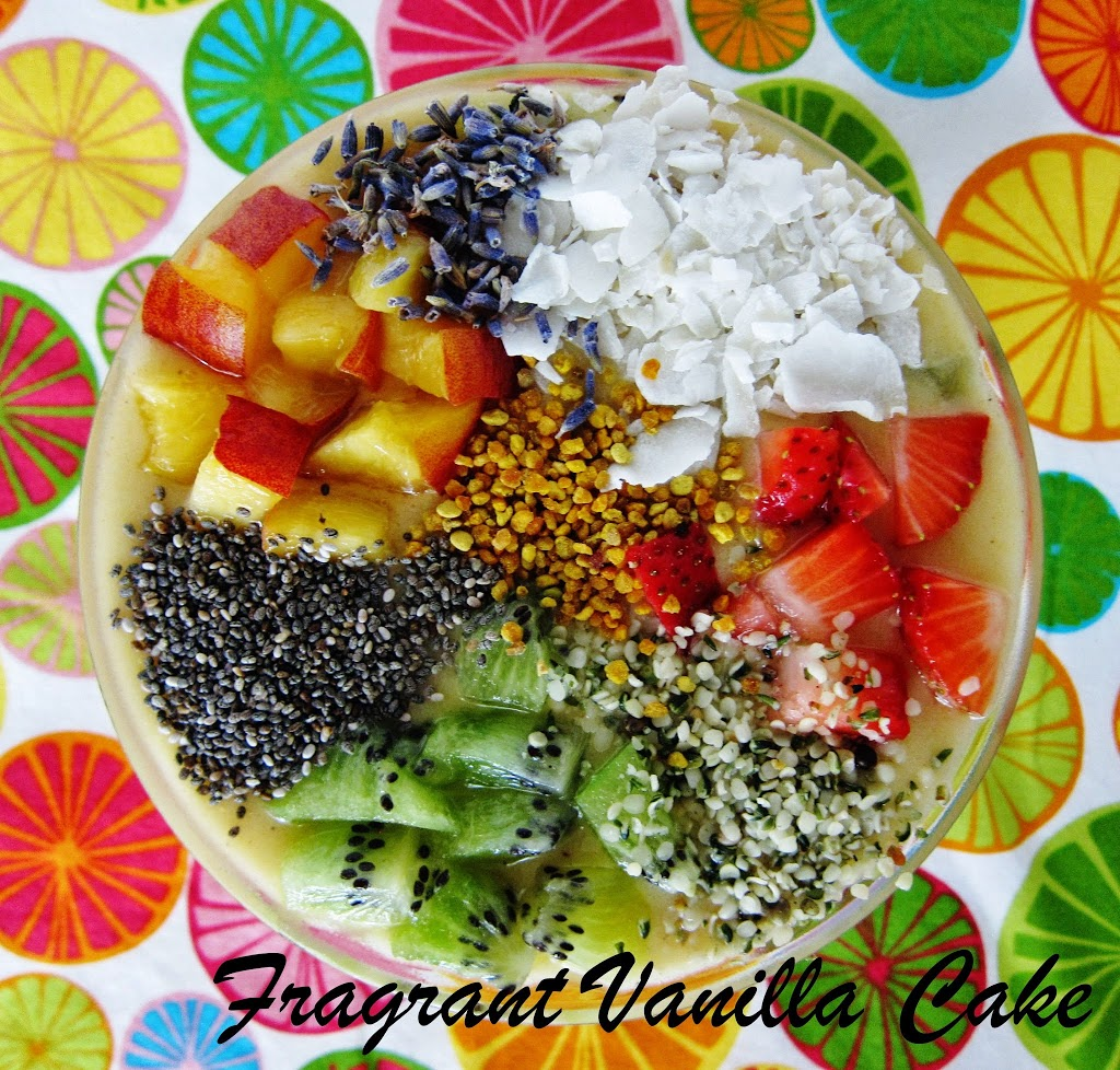 Cake Batter Smoothie Bowl with Fruit Confetti