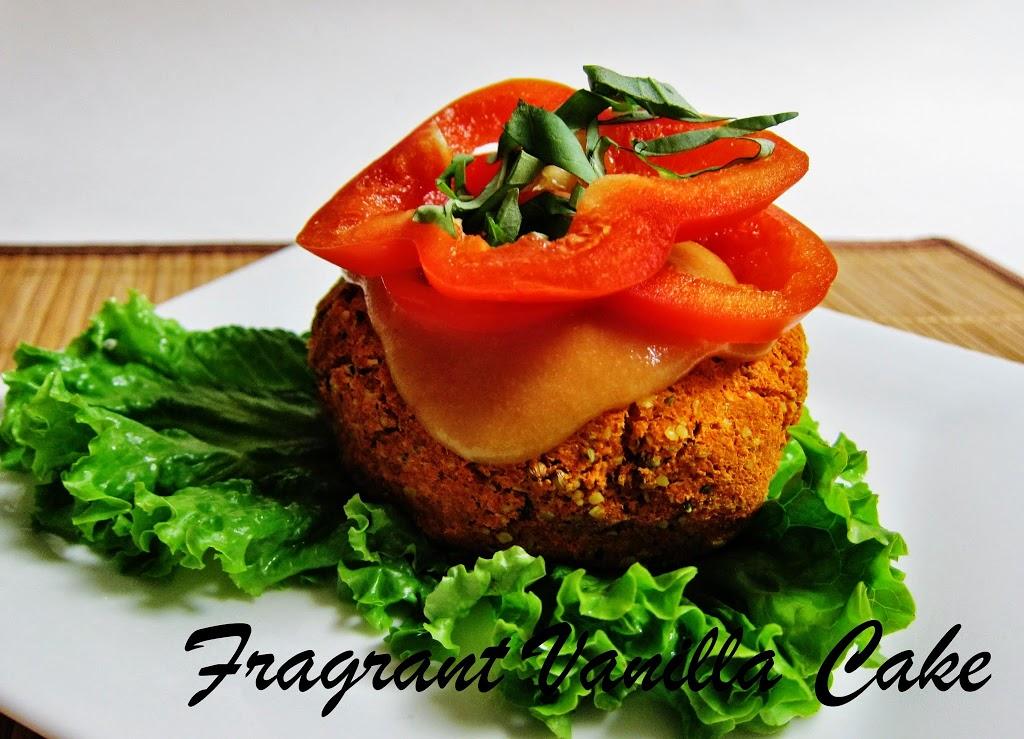 Thai Carrot Burgers with Mango Sauce