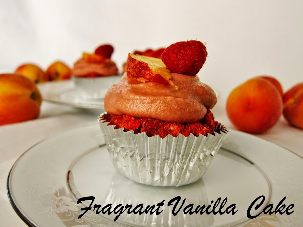 Raw Peach Blush Cupcakes