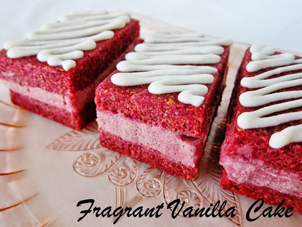 Raw Red Velvet Cake Ice Cream Sandwiches