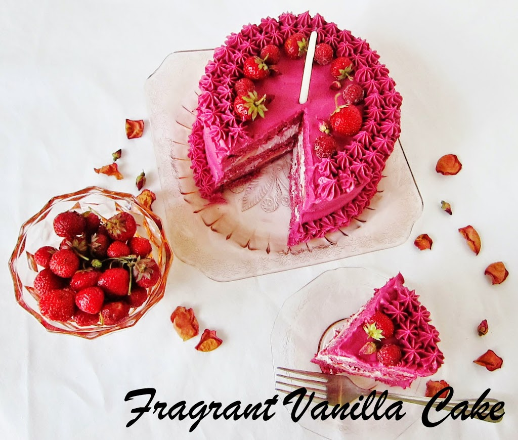 Raw Berry Rose Layer Cake