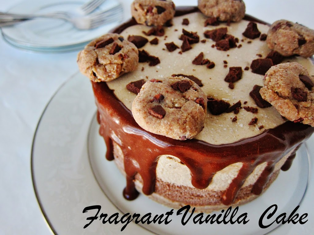 Raw Cookie Dough Ice Cream Cake