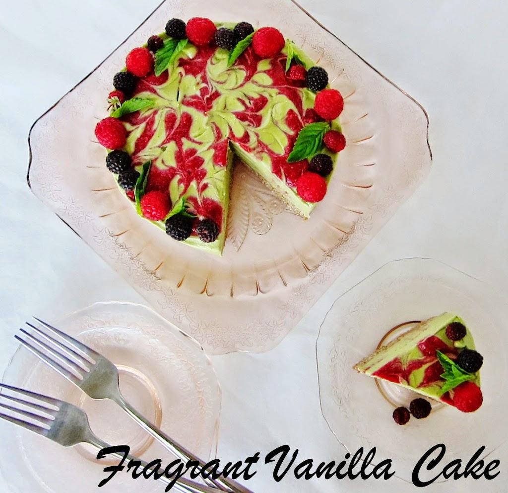 Raw Green Tea Mint Raspberry Dream Cake